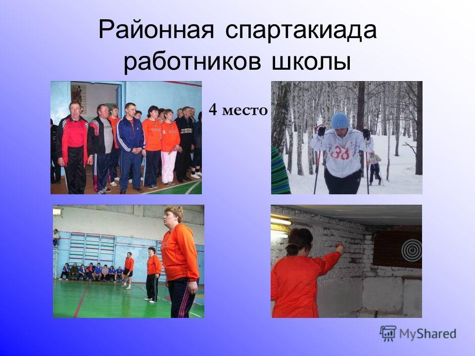 Районная спартакиада работников школы 4 место
