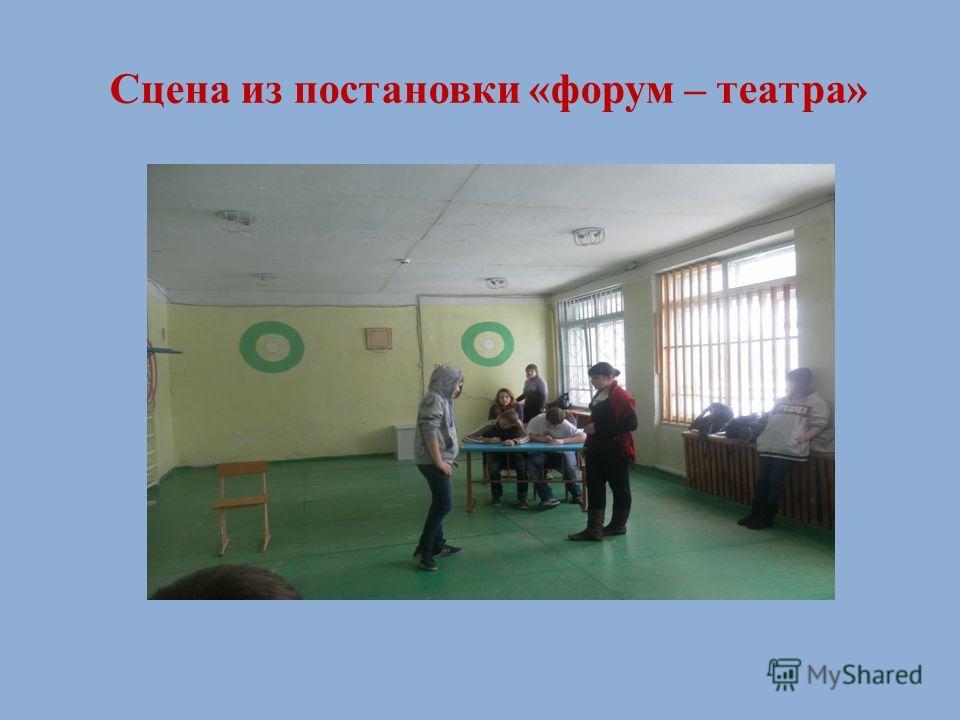 Сцена из постановки «форум – театра»