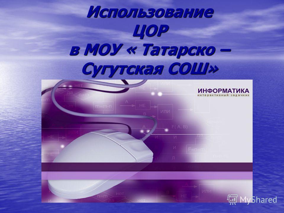 Использование ЦОР в МОУ « Татарско – Сугутская СОШ»