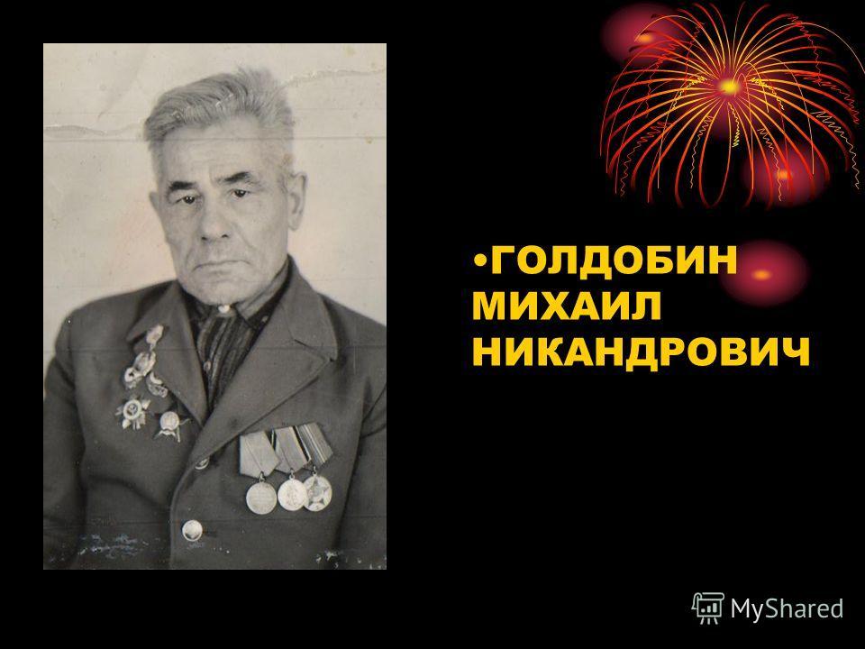 ГОЛДОБИН МИХАИЛ НИКАНДРОВИЧ