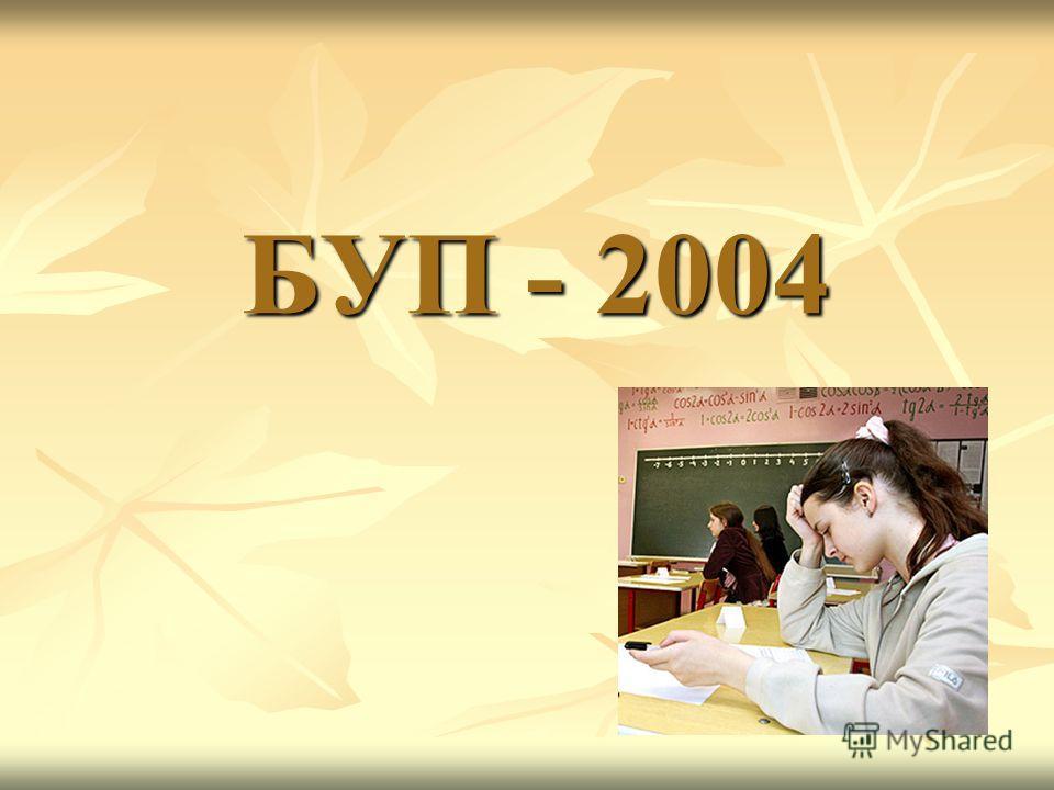 БУП - 2004