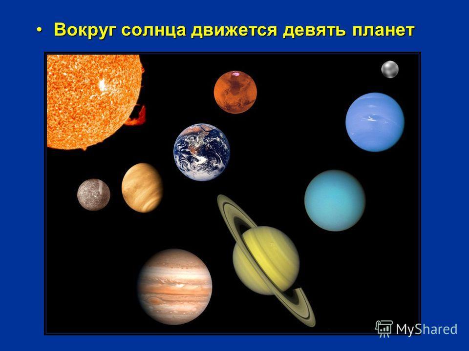 Вокруг солнца движется девять планетВокруг солнца движется девять планет