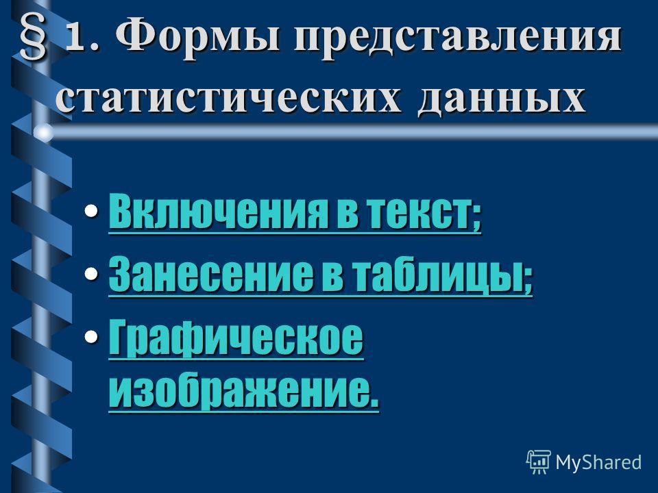 ЛЕКЦИЯ Формы представления данных. Сводка и группировка.