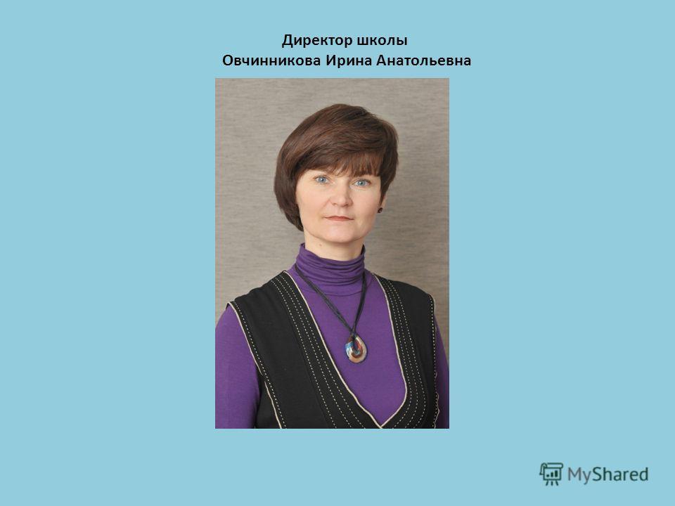 Директор школы Овчинникова Ирина Анатольевна