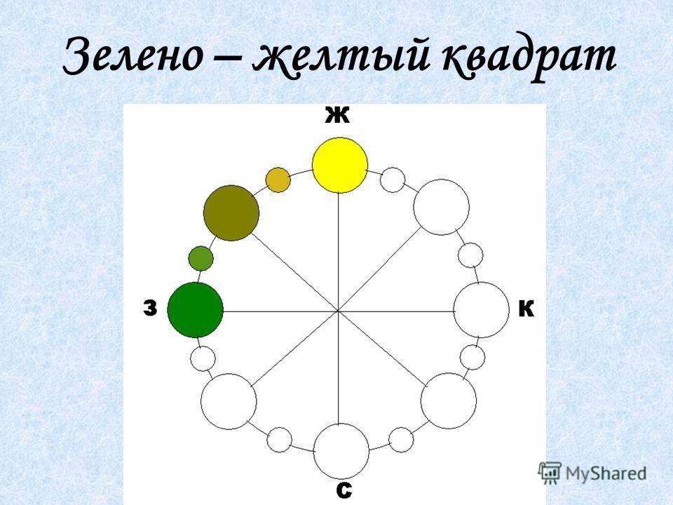 Зелено – желтый квадрат