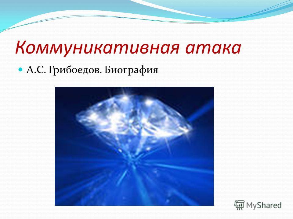 Коммуникативная атака А.С. Грибоедов. Биография