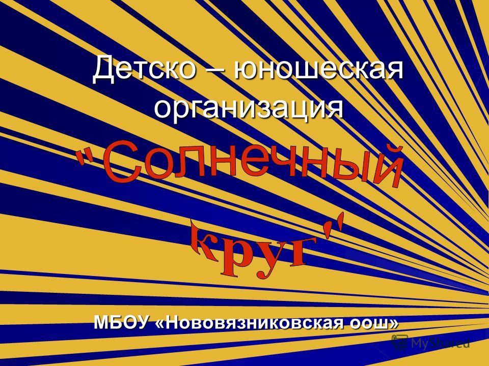 Детско – юношеская организация МБОУ «Нововязниковская оош»
