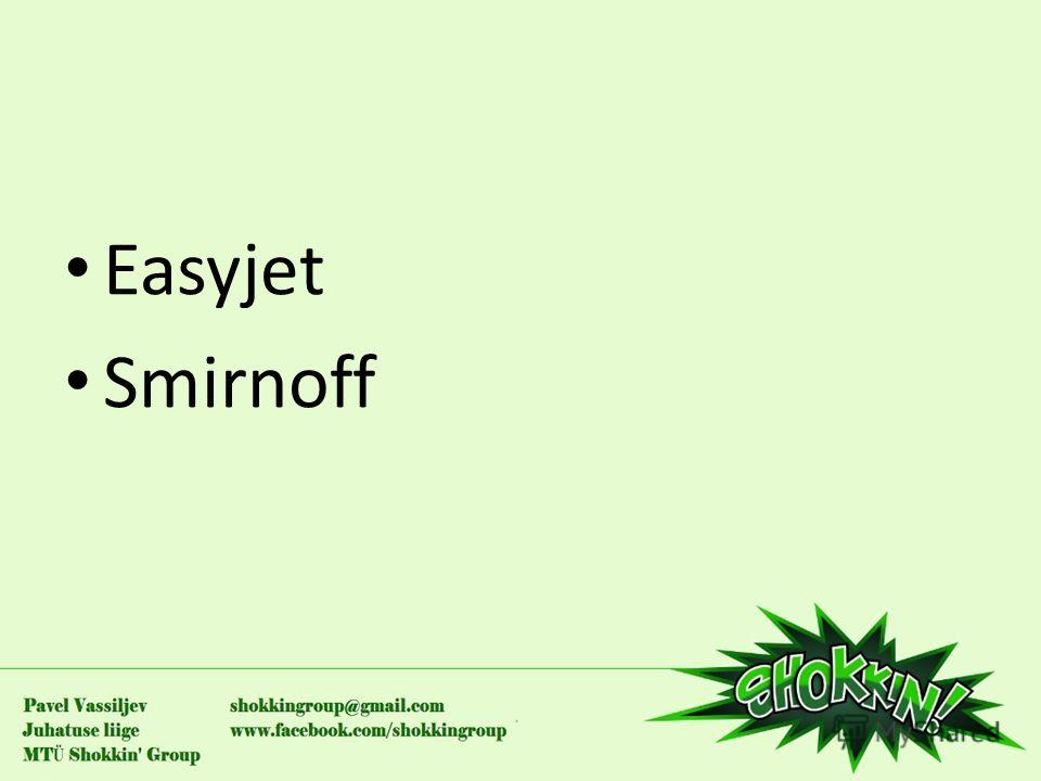 Easyjet Smirnoff