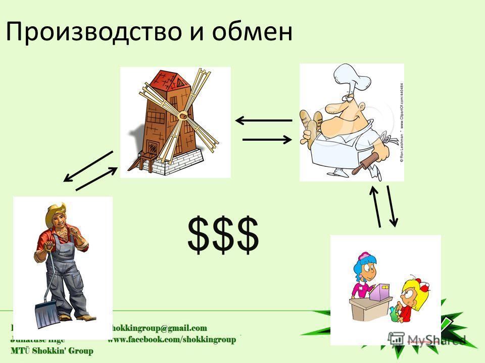 Производство и обмен $$$