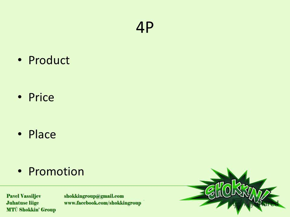 4P4P Product Price Place Promotion