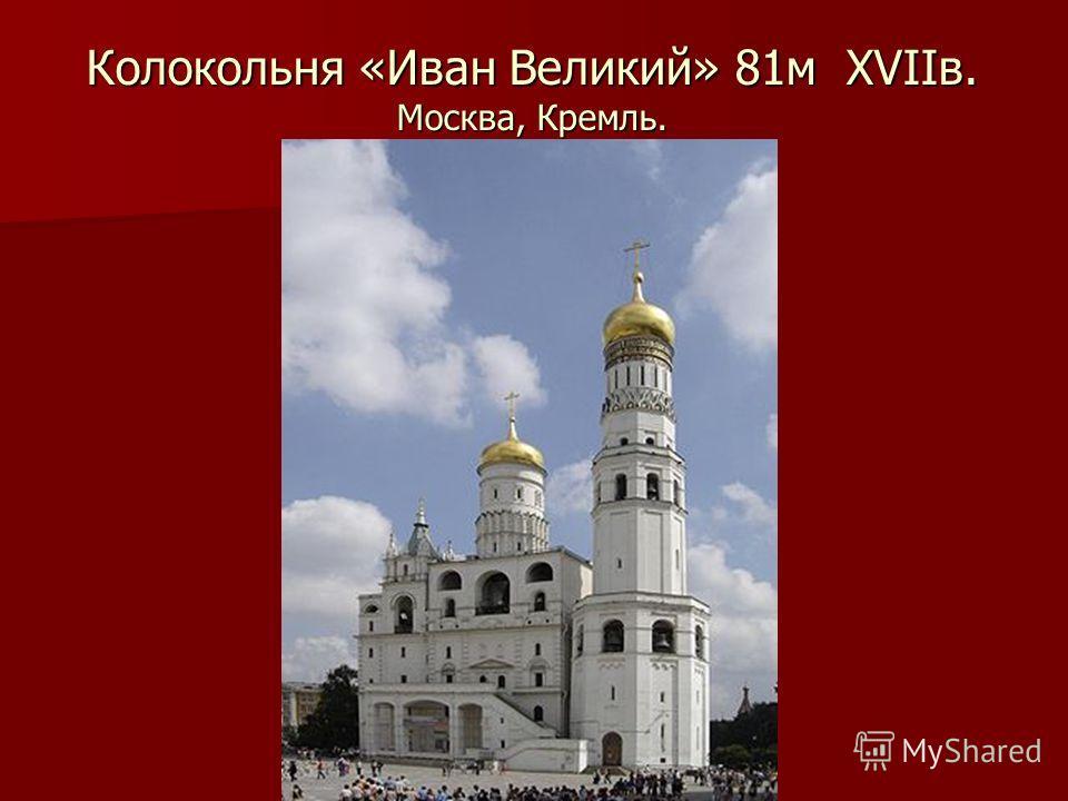 Колокольня «Иван Великий» 81м XVIIв. Москва, Кремль.
