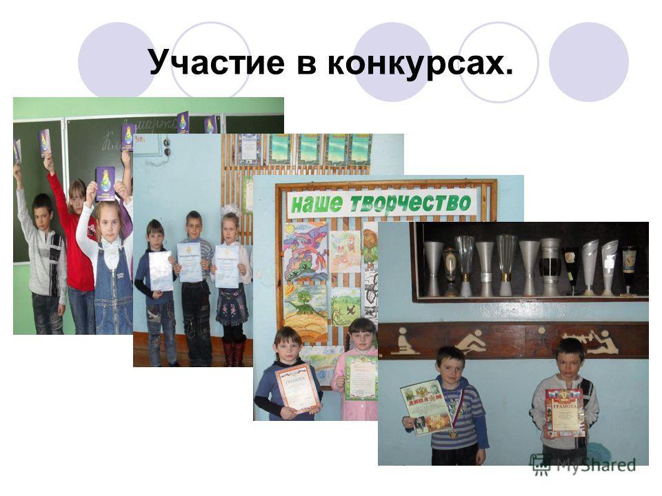 Участие в конкурсах.