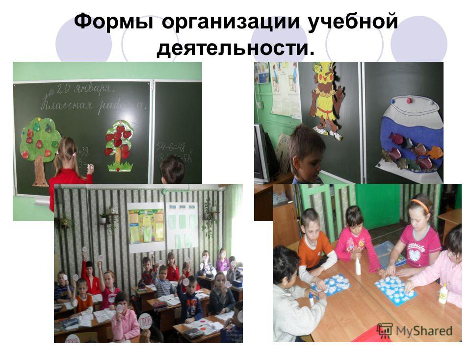 Формы организации учебной деятельности.