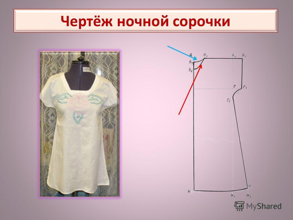 Чертёж ночной сорочки