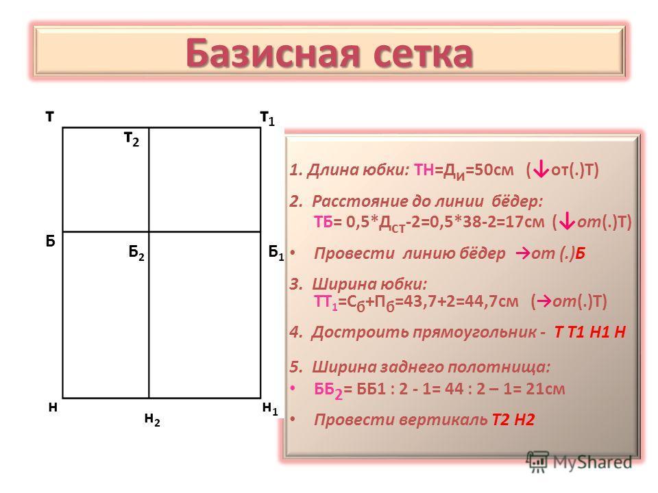 Базисная сетка т т 1 т 2 Б Б 2 Б 1 н н 1 н2н2