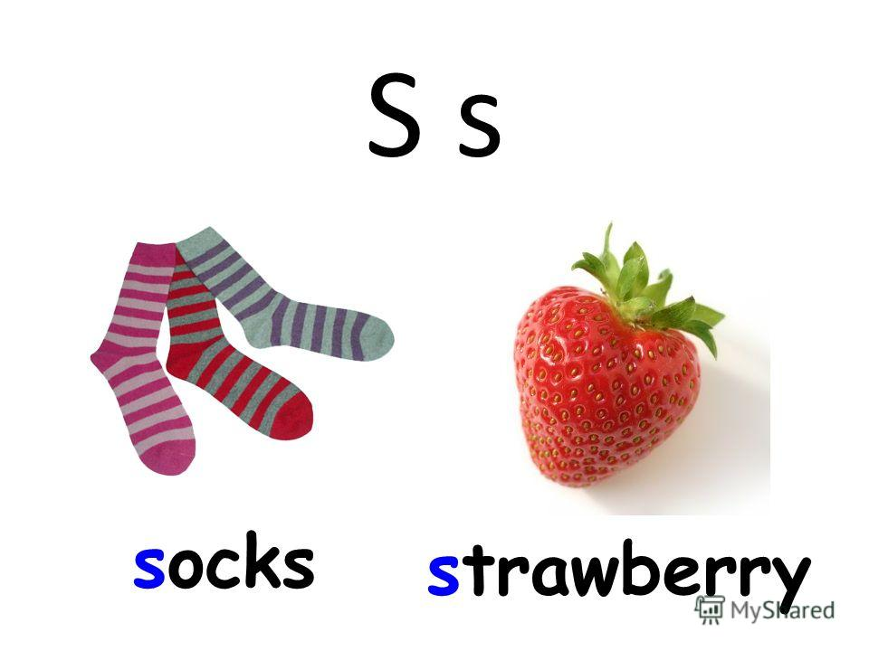 S s socks strawberry