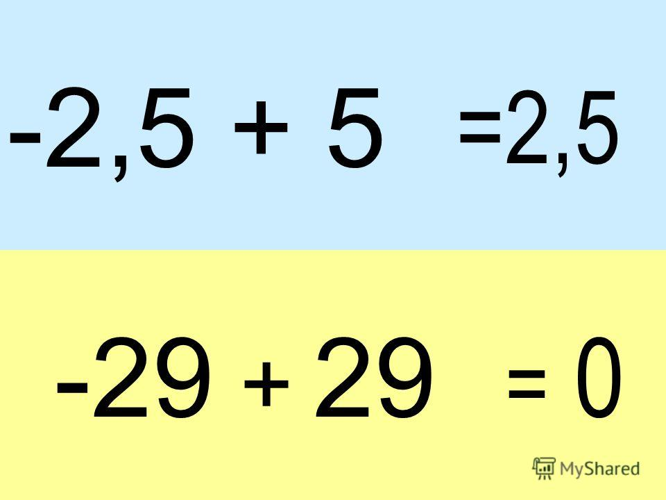 -2,5 + 5 -29 + 29 =2,5 = 0