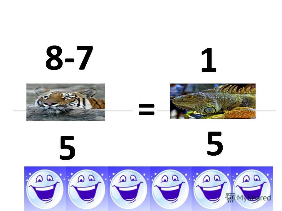8-7 5 = 1 5