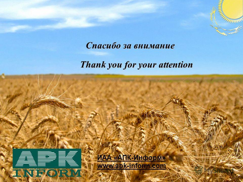 ИАА «АПК-Информ» www.apk-inform.com Спасибо за внимание Thank you for your attention