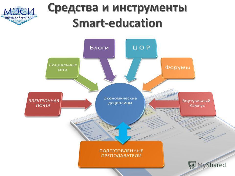 Средства и инструменты Smart-education