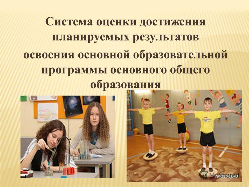 Система оценки достижения планируемых результатов освоения основной образовательной программы основного общего образования