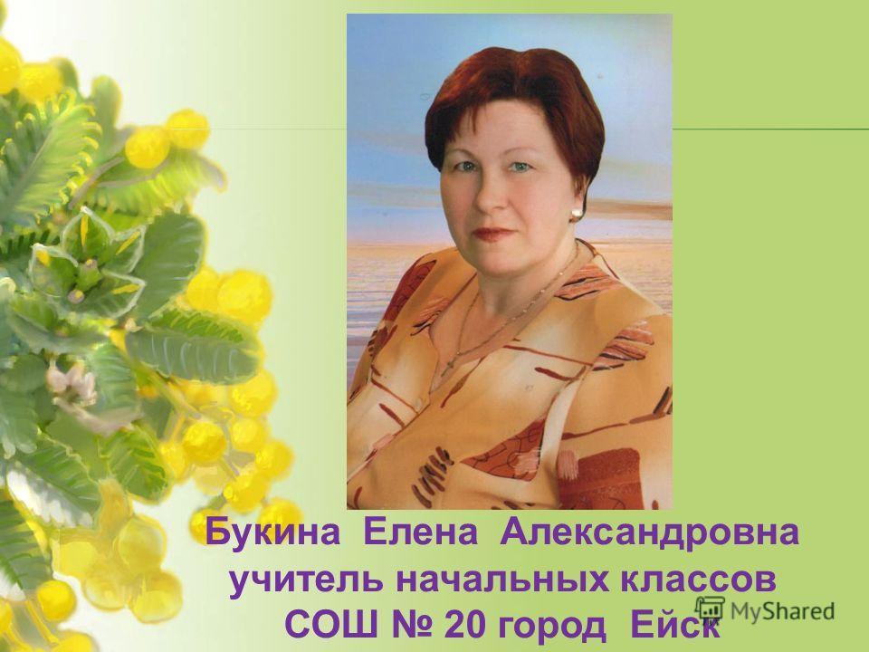 Букина Елена Александровна учитель начальных классов СОШ 20 город Ейск