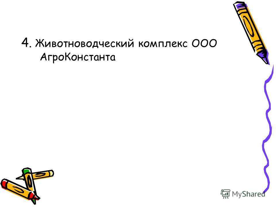 4. Животноводческий комплекс ООО АгроКонстанта