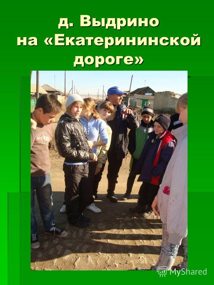 д. Выдрино на «Екатерининской дороге»