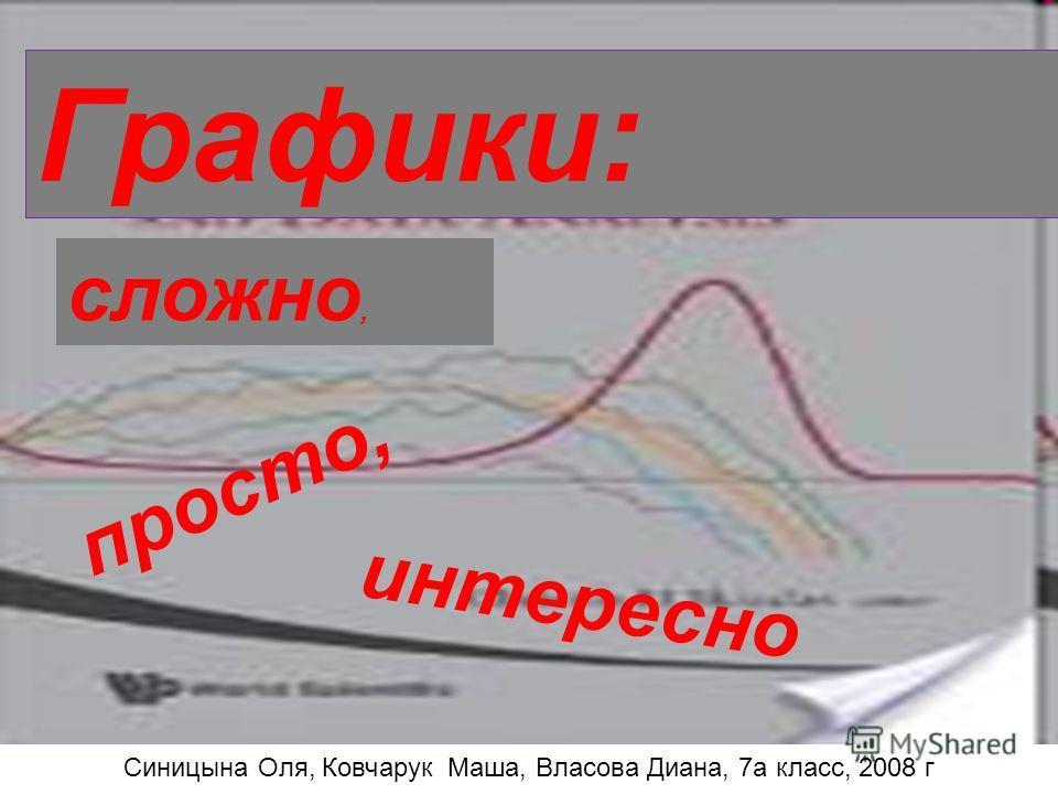 Графики: сложно, просто, интересно Графики: интересно просто, сложно, Синицына Оля, Ковчарук Маша, Власова Диана, 7а класс, 2008 г