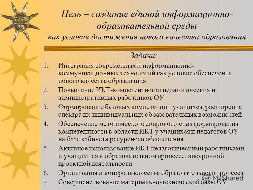 Цели и задачи МОУ Эстонская ООШ на 2011-2012 уч.год