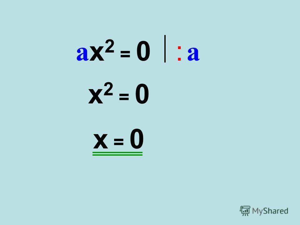 ax2 = 0ax2 = 0: a: a x2 = 0x2 = 0 x = 0x = 0