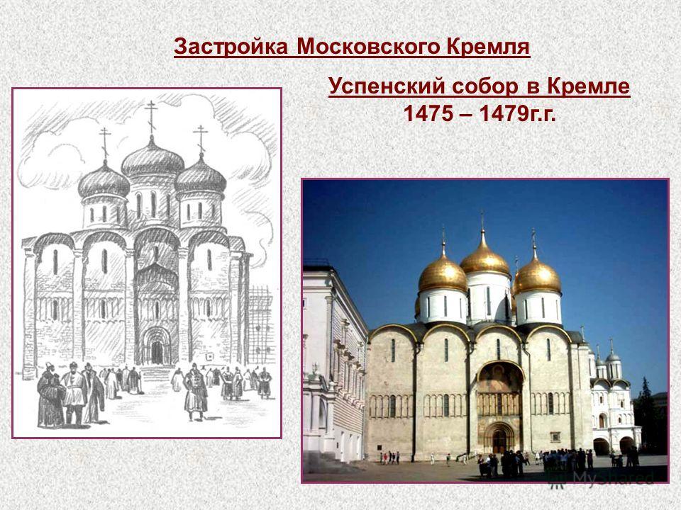 Успенский собор в Кремле 1475 – 1479г.г. Застройка Московского Кремля