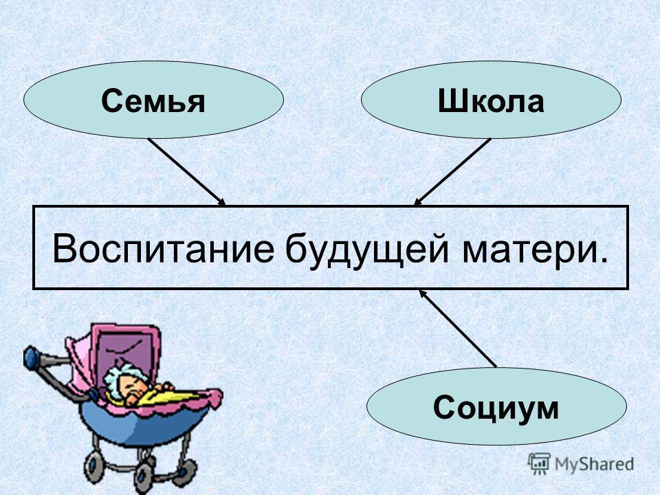 Воспитание будущей матери. ШколаСемья Социум