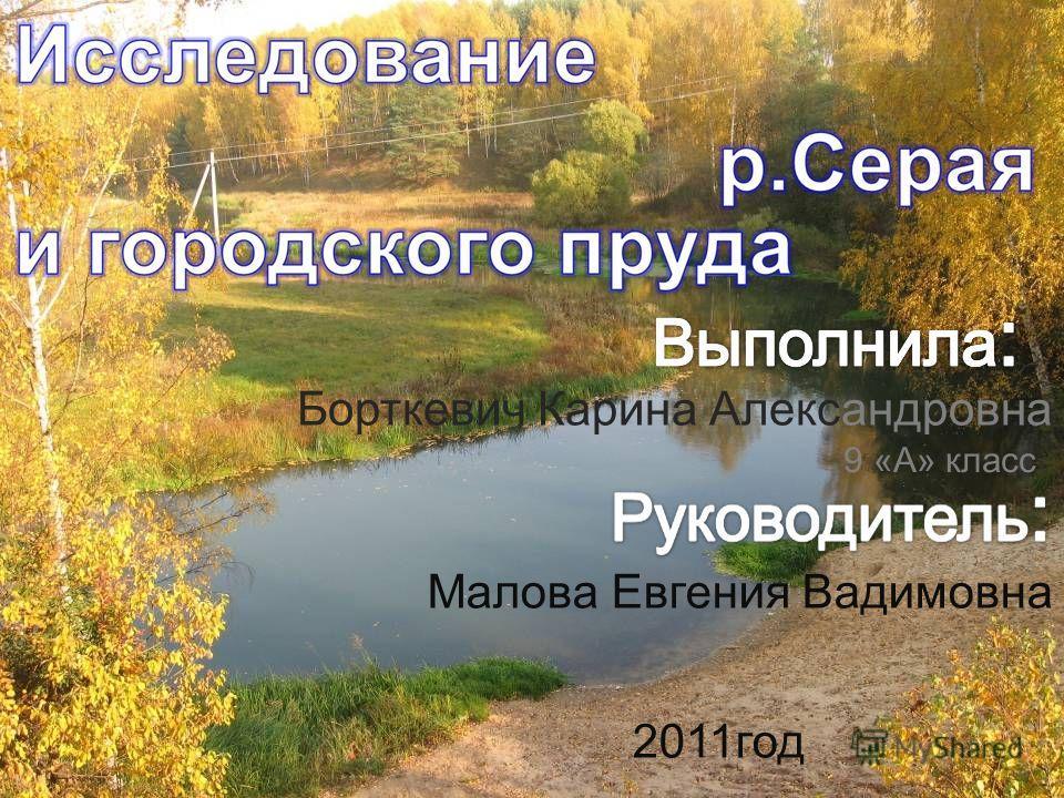 Борткевич Карина Александровна 9 «А» класс Малова Евгения Вадимовна 2011год