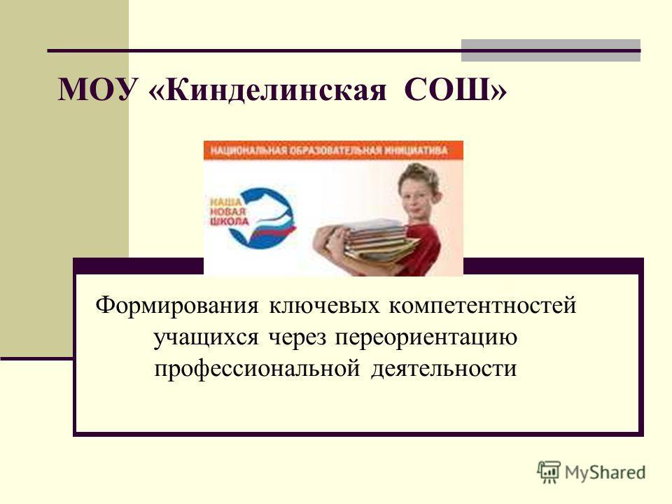 МОУ «Кинделинская СОШ» Формирования ключевых компетентностей учащихся через переориентацию профессиональной деятельности