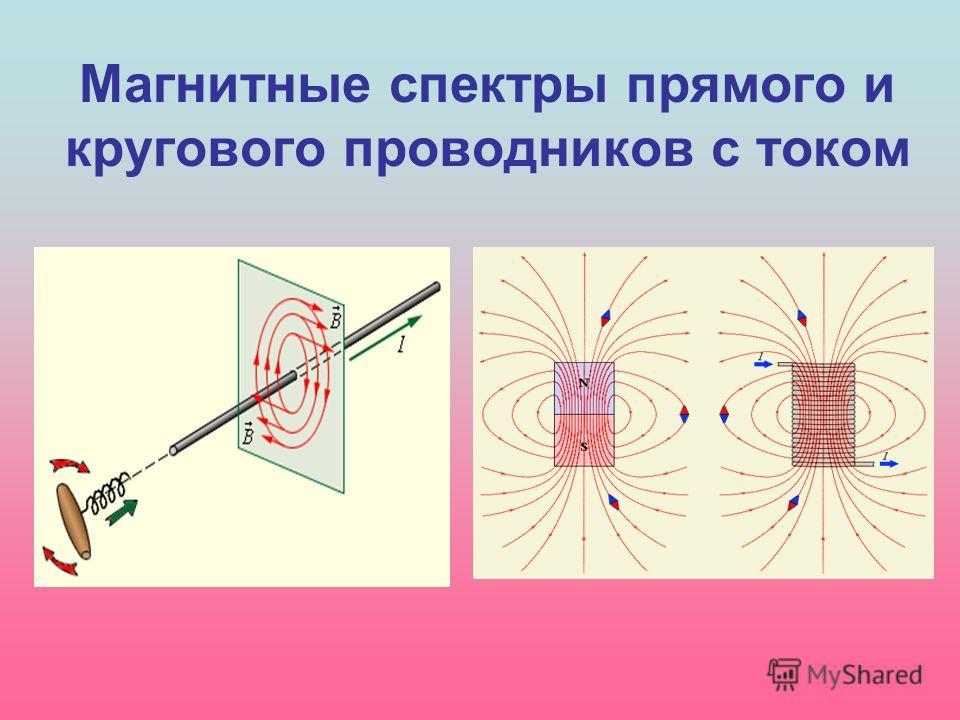 Магнитные спектры прямого и кругового проводников с током