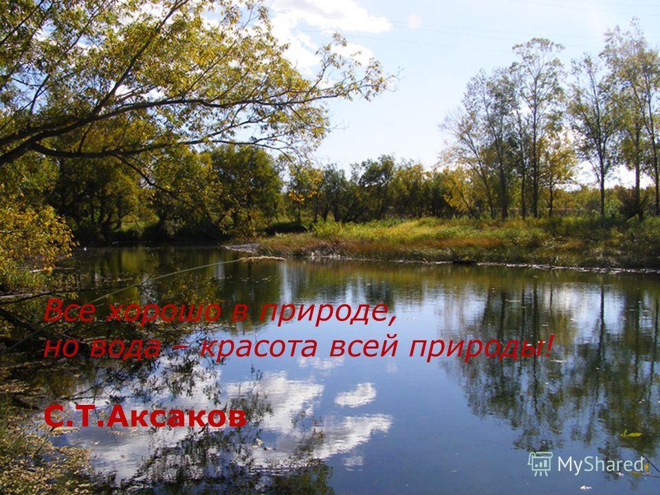 Все хорошо в природе, но вода – красота всей природы! С.Т.Аксаков