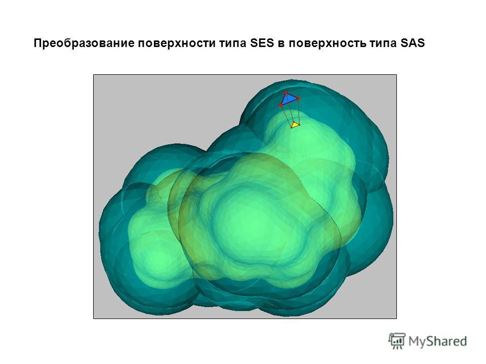 Преобразование поверхности типа SES в поверхность типа SAS