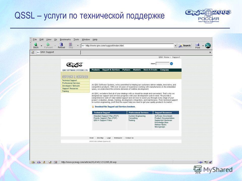QSSL – услуги по технической поддержке