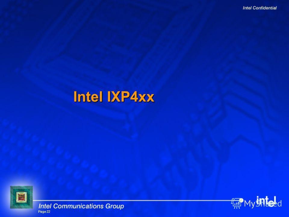 Page 22 Intel IXP4xx