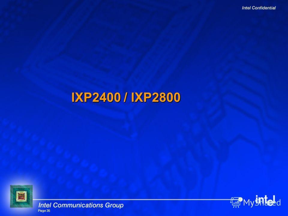 Page 35 IXP2400 / IXP2800