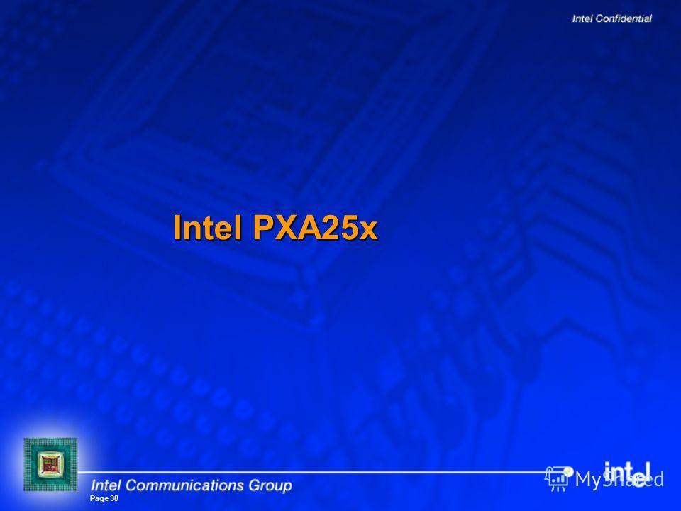 Page 38 Intel PXA25x