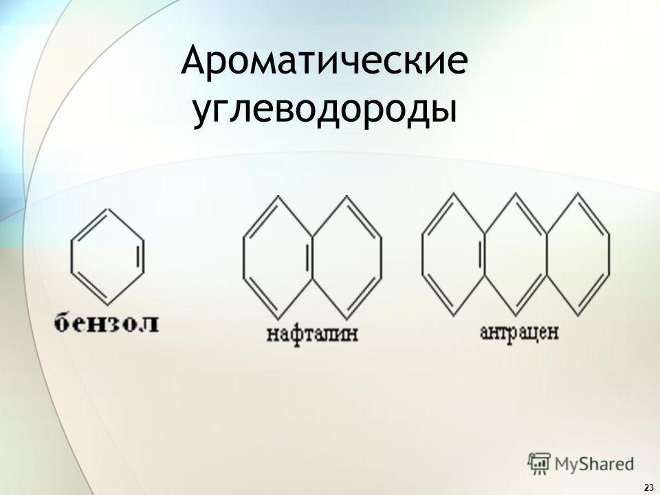 23 Ароматические углеводороды