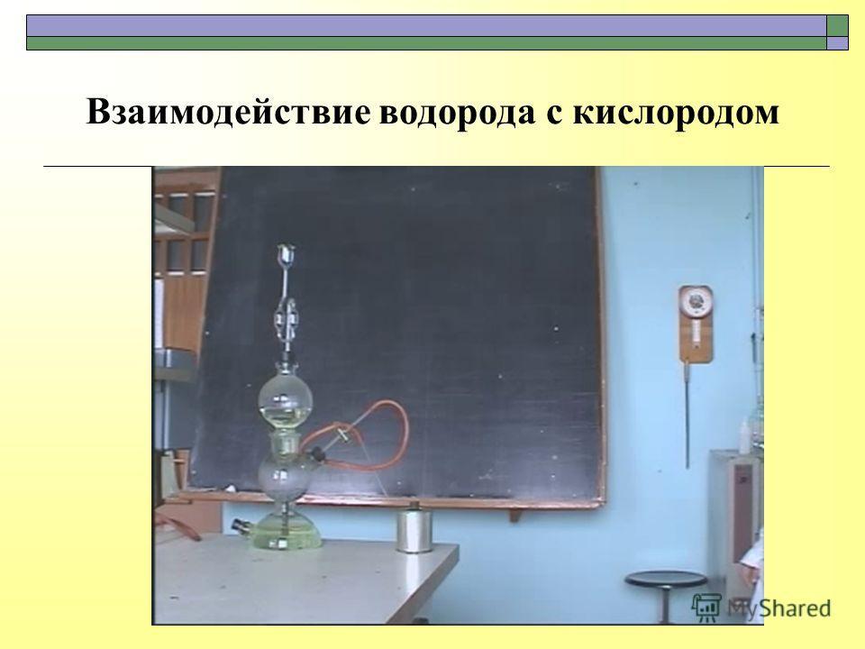Взаимодействие водорода с кислородом