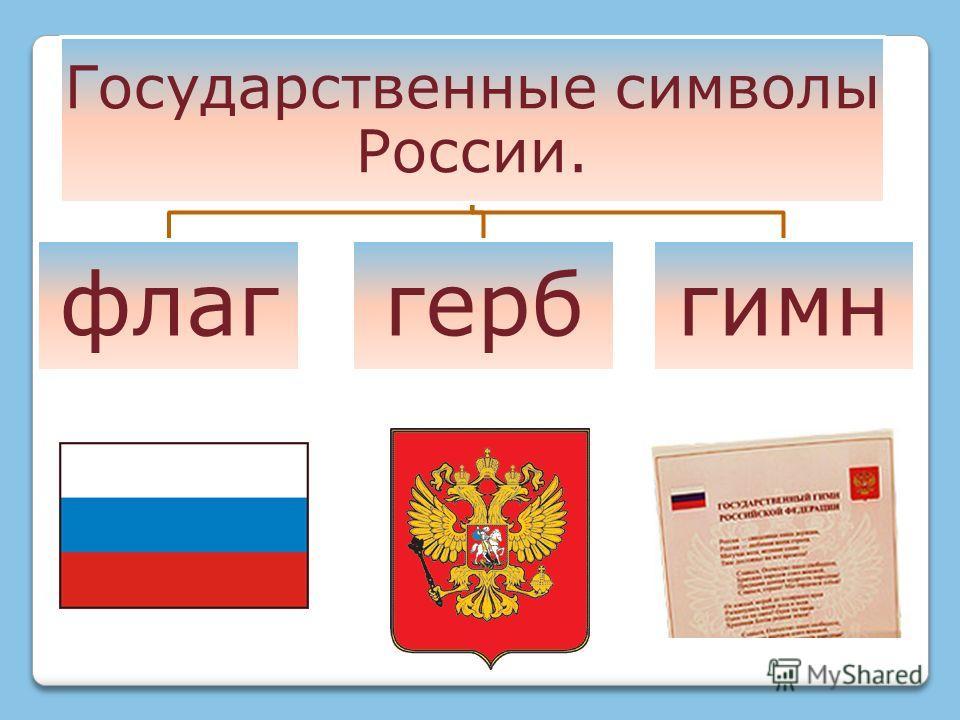 Государственные символы России. флаггербгимн