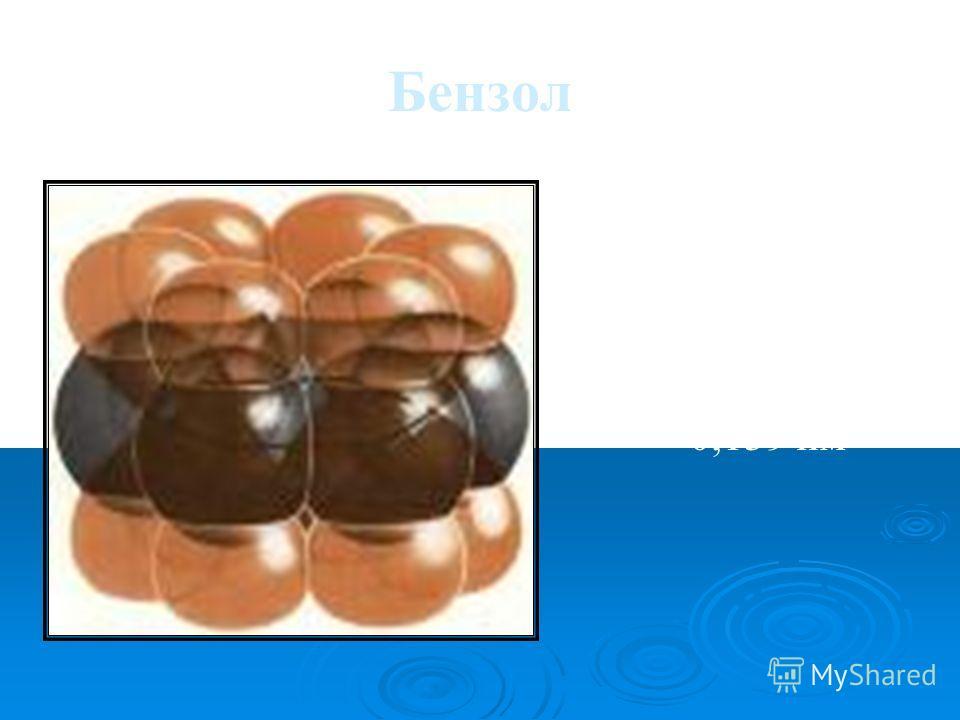 Бензол С6Н6С6Н6 6 – сигма-связей и единая пи-система Длина связи С – С 0,139 нм