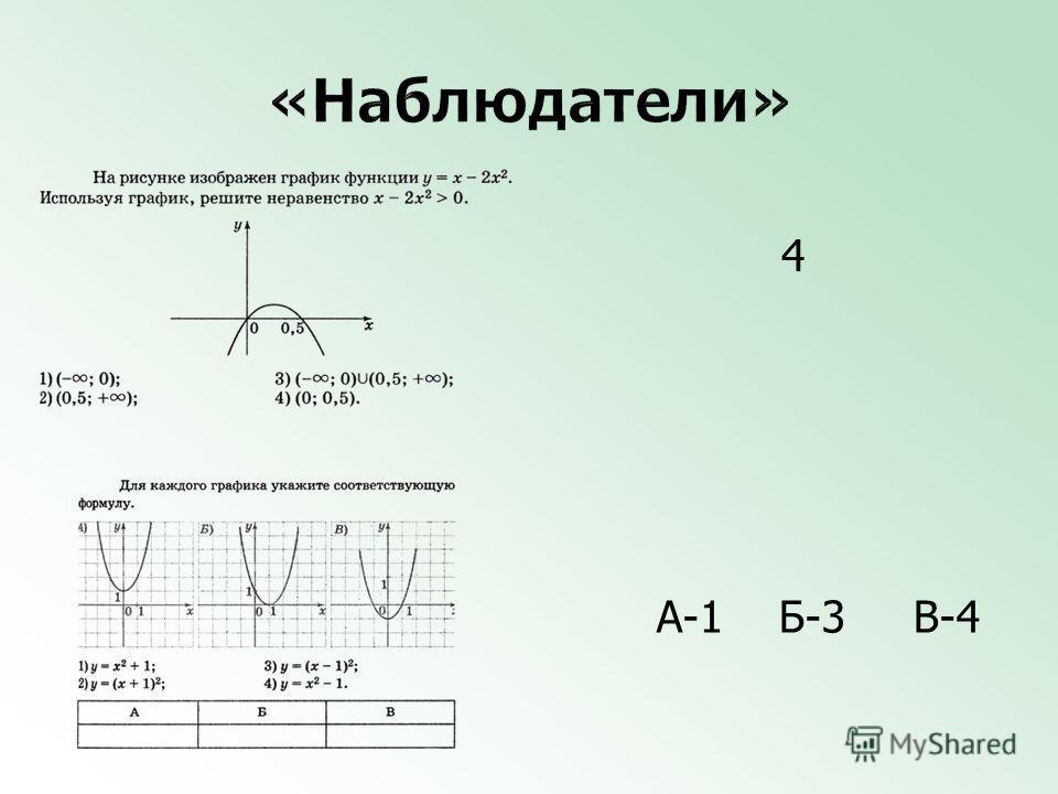 4 А-1 Б-3 В-4
