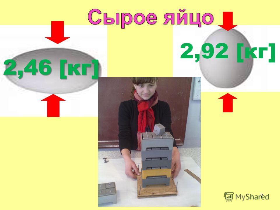 2,46 [кг] 2,92 [кг] 7