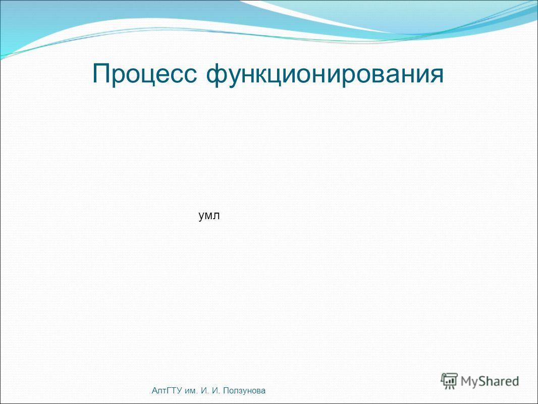 Процесс функционирования АлтГТУ им. И. И. Ползунова умл