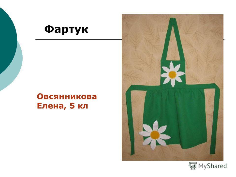 Фартук Овсянникова Елена, 5 кл